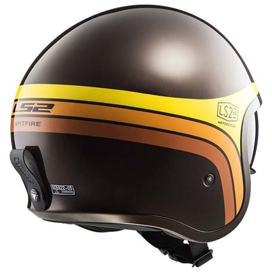 Kask LS2 SPITFIRE sunrise brown/orange/yellow